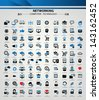 100 Website and networking icon set,vector - stock