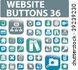 36 website buttons. vector - stock vector