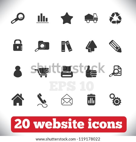 20 website icons set, vector