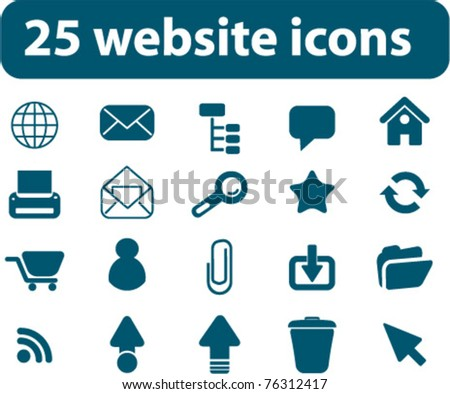 25 website icons, vector