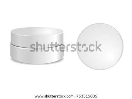 White round box round cap vector stock vector 753515035 shutterstock white round box with round cap vector packaging mock up template mock up tube pronofoot35fo Images