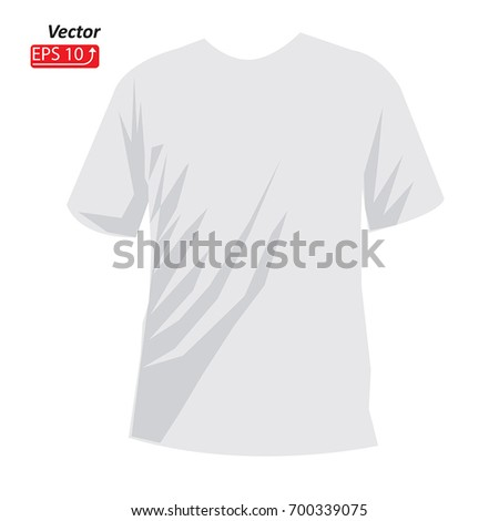 White Tshirt Template Front View Isolated Stock Vector 700339075 ...
