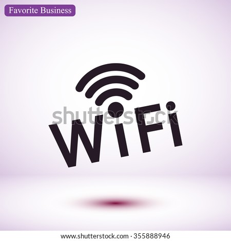 wi-fi; wife icon, Vector  Eps 10