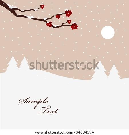 winter scene - stock vector