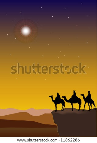 3 Wise Men - stock vector