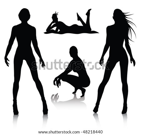 Nude female silhouette Nude Photos