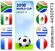 2010 World Cup Group A Original Vector Illustration - stock vector