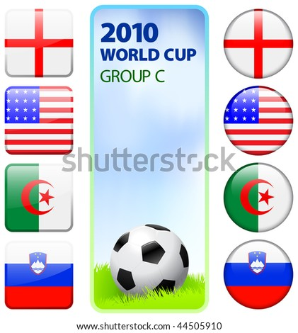 2010 World Cup Group C Original Vector Illustration - stock vector