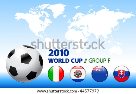 2010 World Cup Group F Original Vector Illustration - stock vector