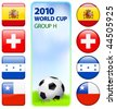 2010 World Cup Group H Original Vector Illustration - stock vector
