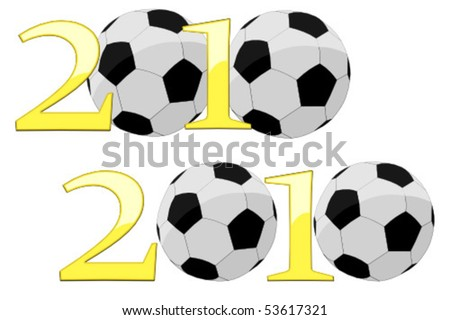 2010 World Cup Year - stock vector
