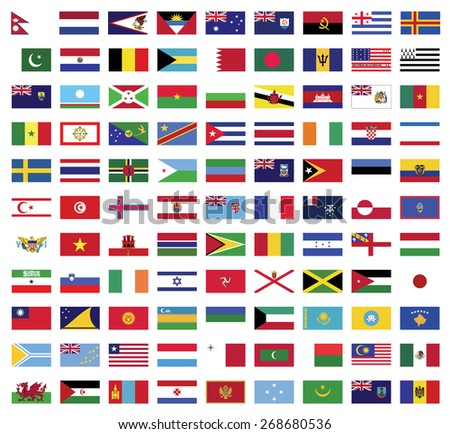 World flags collection ,flags vector