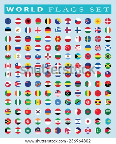 world Flags icon, vector illustration - stock vector