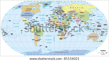 2012 World Political Map