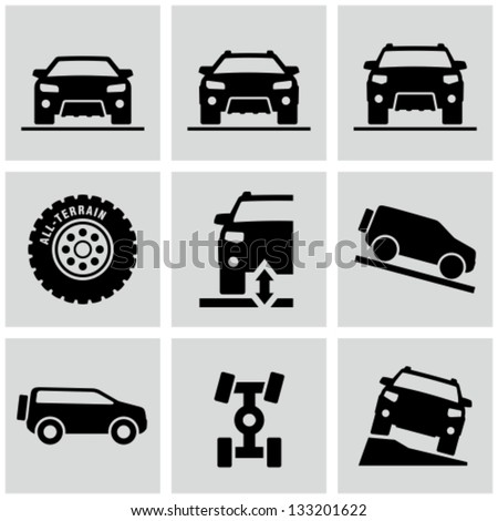 4x4 cars - stock vector