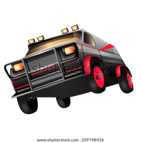 4x4 Cartoon Car - stock vector