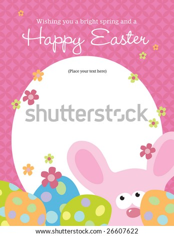 85X11 Easter Flyer Template More Portfolio Stock Vector 26560807