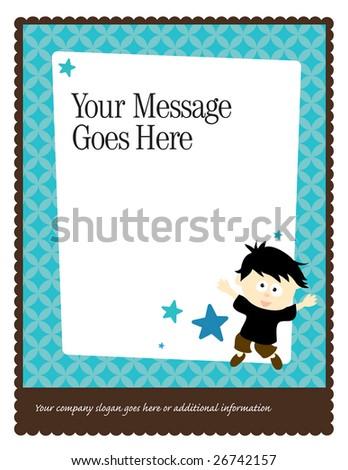 8.5x11 Flyer/Poster Template (more in portfolio) - stock vector