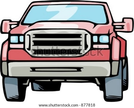 4x4 jeep. Check my portfolio for many more images of this series. - stock vector