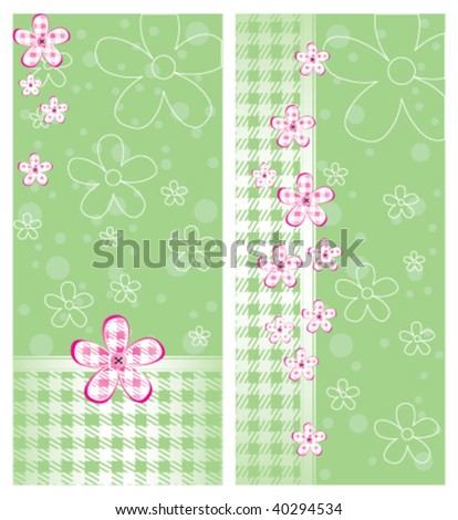 4x9 Rack Card Brochure Template - stock vector
