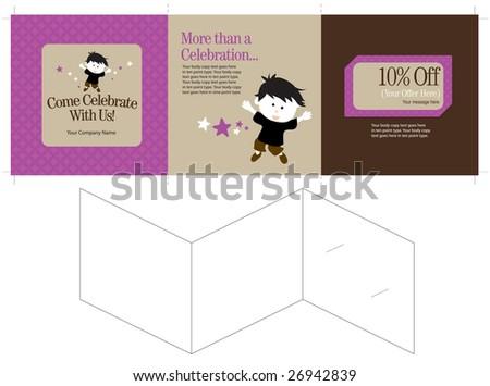 15 X 5 Three Panel Brochure Template Folds Stock Vector Hd Royalty