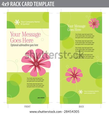 4x9 two sided rack card brochure stock vector 28454305 shutterstock