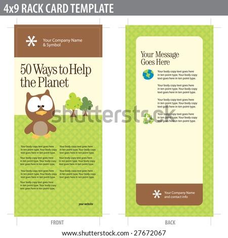 Rack Card Images RoyaltyFree Images Vectors – Rack Card Template