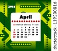 2014 year calendar in vector with arrows. April - stock photo