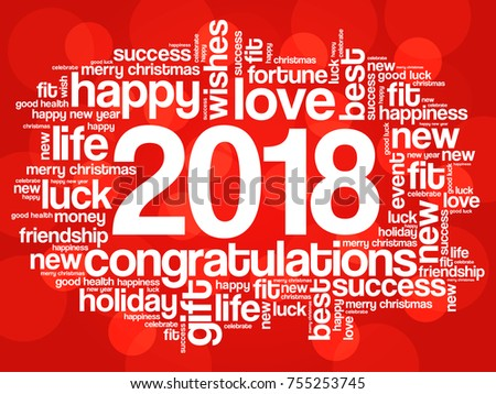 2018 year greeting word cloud collage stock vector 2018 755253745 2018 year greeting word cloud collage happy new year celebration greeting card m4hsunfo