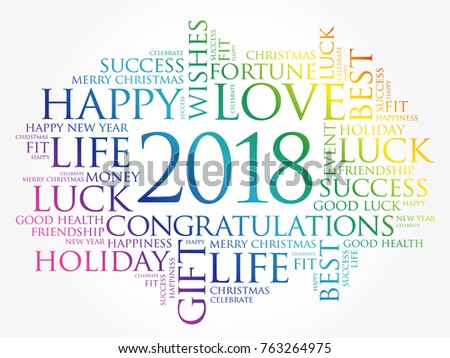 2018 year greeting word cloud collage stock vector 2018 763264975 2018 year greeting word cloud collage happy new year celebration greeting card m4hsunfo