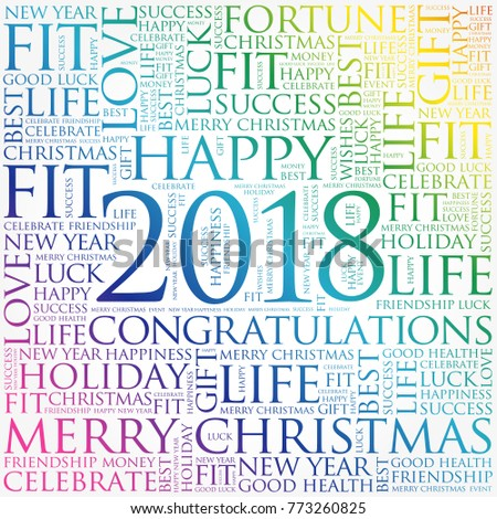 2018 year greeting word cloud collage stock vector 773260825 2018 year greeting word cloud collage happy new year celebration greeting card m4hsunfo