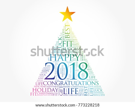 2018 year greeting word cloud collage stock vector 773228218 2018 year greeting word cloud collage happy new year celebration word cloud card in the m4hsunfo Image collections