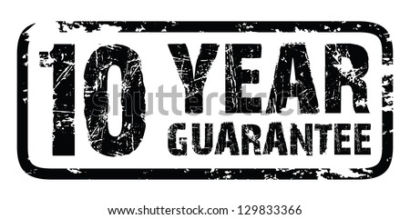 10 year guarantee - stock vector