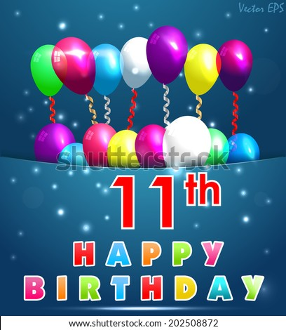 11th Birthday Images RoyaltyFree Images Vectors – 11th Birthday Cards