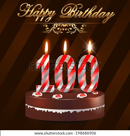 100th Birthday Images RoyaltyFree Images Vectors – 100 Birthday Card