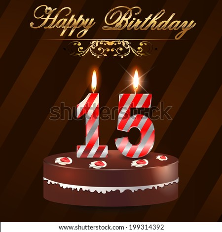 15 Birthday Images RoyaltyFree Images Vectors – 15th Birthday Cards