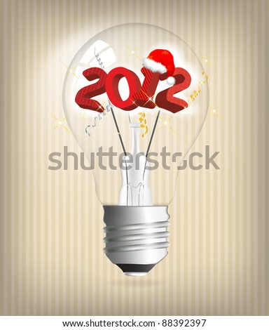 2012 year holiday illustration - stock vector