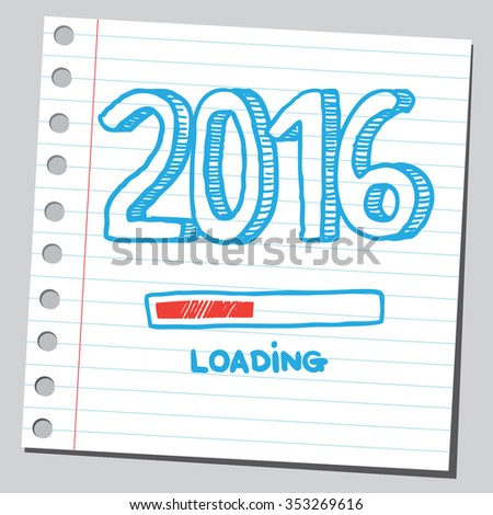 2016 year loading - stock vector