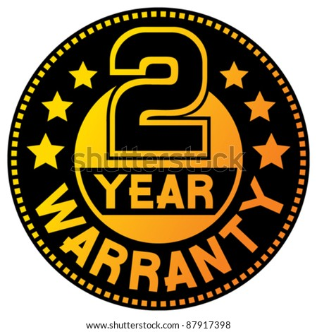 2 year warranty (two year warranty) - stock vector