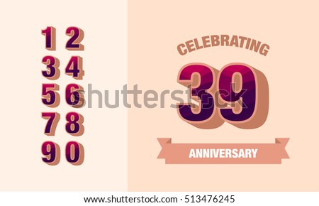 Happy anniversary card beautiful greeting banner poster