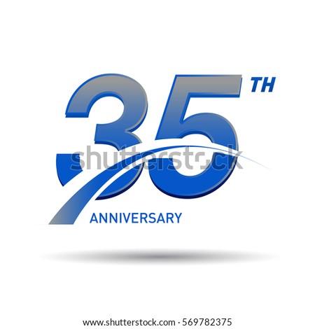 35 Years Anniversary Celebration Design Stock Vector 569782375