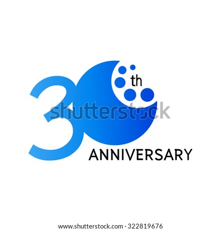 30 years anniversary celebration on white background vector