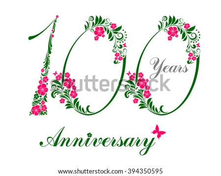 100 years anniversary happy birthday card stock vector 394350595 100 years anniversary happy birthday card celebration background with number one hundredth and place bookmarktalkfo Images