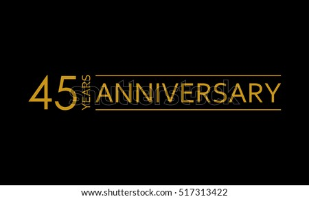 45 years anniversary icon. 45th birthday emblem. Anniversary design element. Vector illustration.