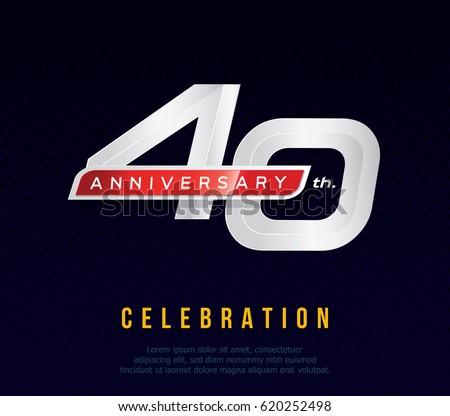 40 years anniversary invitation card celebration stock vector 40 years anniversary invitation card celebration stock vector 620252498 shutterstock stopboris Images