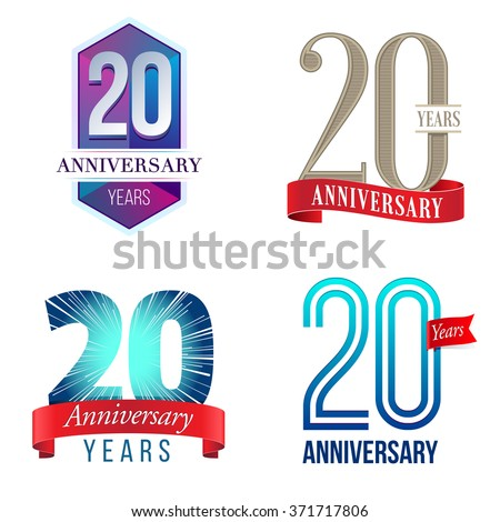 25 years anniversary logo stock vector 371717794 shutterstock 20 years anniversary logo altavistaventures Image collections