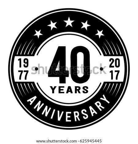 40 years anniversary logo template vector ベクター画像素材 625945445