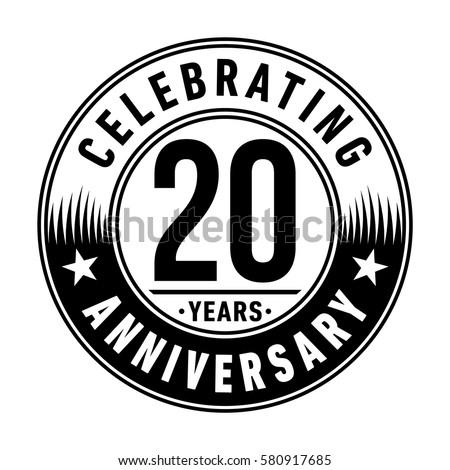 20 years anniversary logo vector illustration stock vector 580917685 rh shutterstock com logo vector file logo vector file