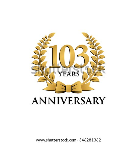 50th golden anniversary wreath ribbon logo stock vector 350445566 shutterstock