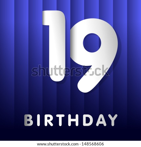 19th Birthday Images RoyaltyFree Images Vectors – 19 Birthday Cards